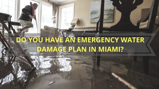 Water Damage Plan in Miami
